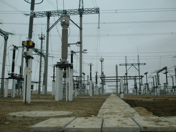 Electroyuzhatommontazh - Substation in operation